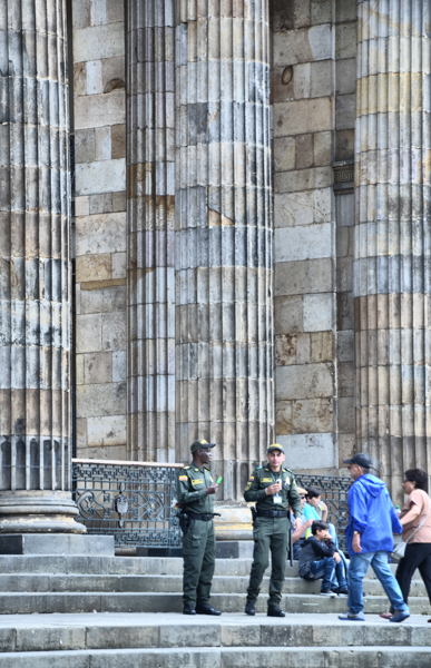 police in Bogota, colombia