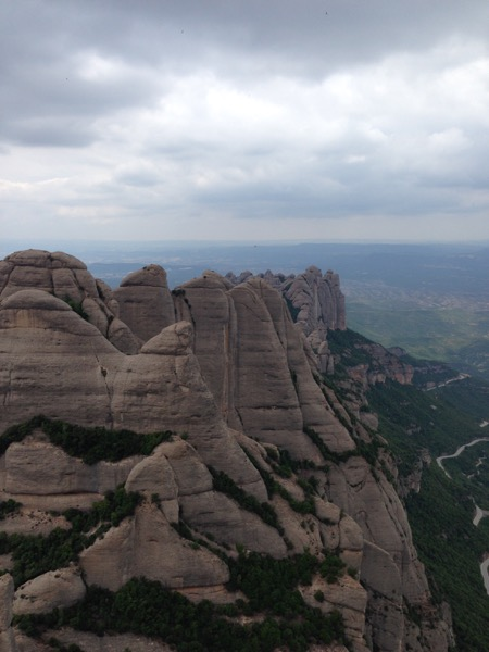 Hiking in Monserrat, Spain
