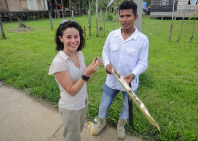 trying weird fruit in the amazon