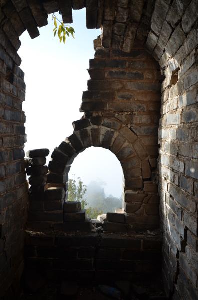 ruins of great wall of china